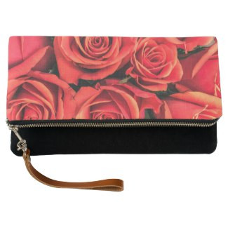 Roses Fold-Over Clutch