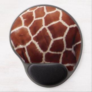 Giraffe Print Design Gel Mousepad
