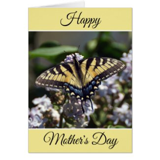 Personalized Happy Mother's Day Butterfly Card