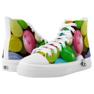 Jelly Bean Design High Top Tennis Shoes