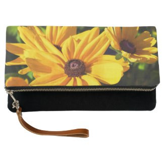 Black Eyed Susan Fold-Over Clutch