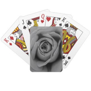 Monochromatic Rose Playing Cards
