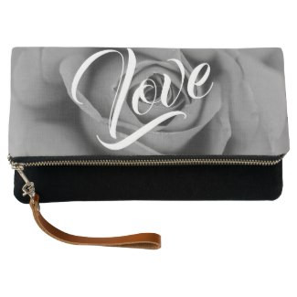 Life is Beautiful Rose Love Fold-Over Clutch