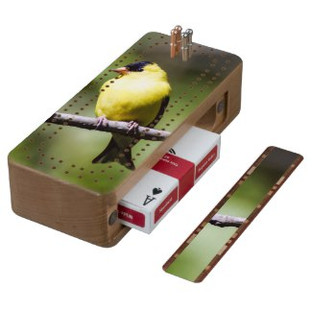 American Goldfinch Cribbage Board