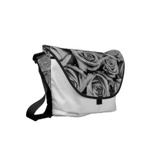 Monochromatic Roses Messenger Bag