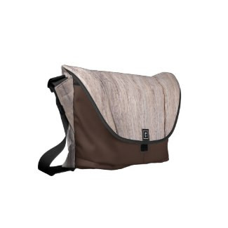 Wood Design Messenger Bag