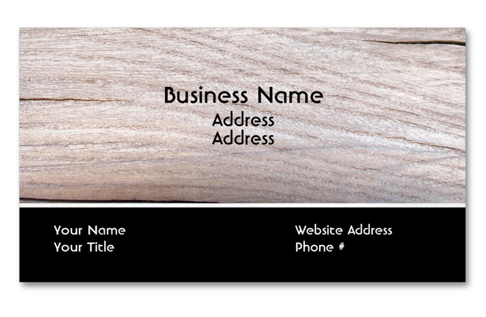 Wood Grain Design Construction Magnetic Business Card