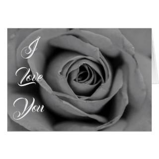 Love Valentine's Day Rose Greeting Card