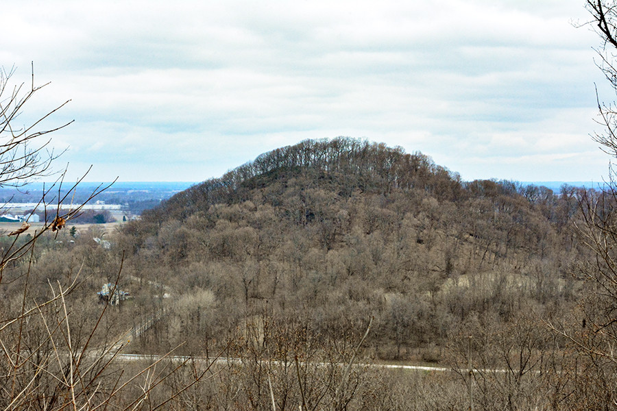 Beck's Knob as seen from Allen Knob in Shallenberger State Nature Preserve