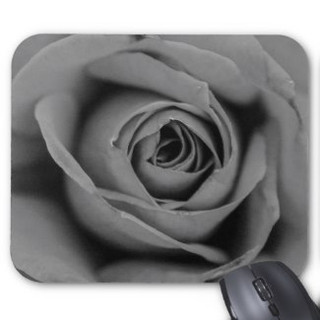 Monochromatic Rose Mousepad