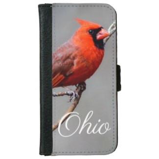 Cardinal Ohio iPhone Wallet Case