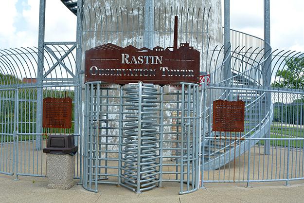 Rastin Obervation Tower Entrance at Ariel-Foundation Park in Mount Vernon Ohio