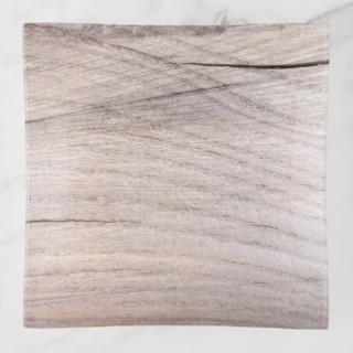 Wood Grain Design Glass Trinket Tray