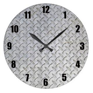 Diamond Plate Wall Clock