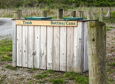Trash recycling center located at Kinnikinnick Fen Ohio Nature preserve