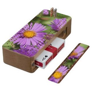 New England Aster Cribbage Board