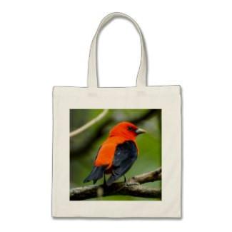 Scarlet Tanager Budget Tote Bag