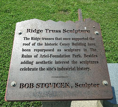 Ridge Truss Sculpture at Ariel-Foundation Park in Mount Vernon Ohio