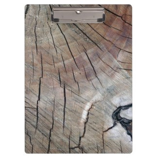 Cracked Wood Grain Design Clipboard