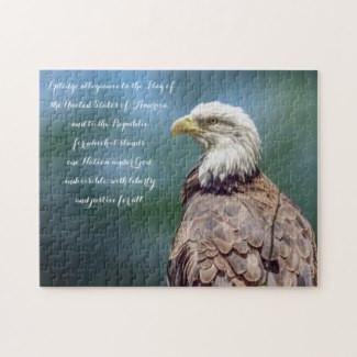 Bald Eagle The Pledge of Allegiance Puzzle