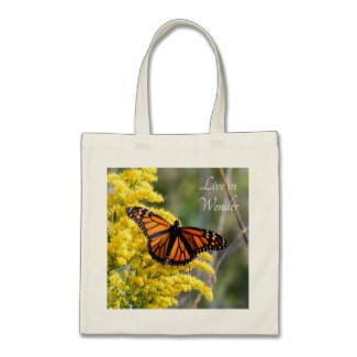 Live in Wonder Monarch Butterfly Budget Tote