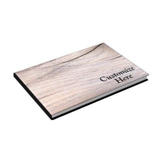Personalized Rustic Wood Grain Design Guestbook