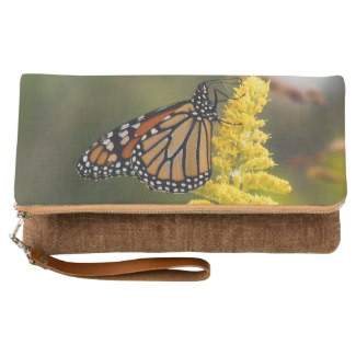Monarch Butterfly Fold-Over Clutch