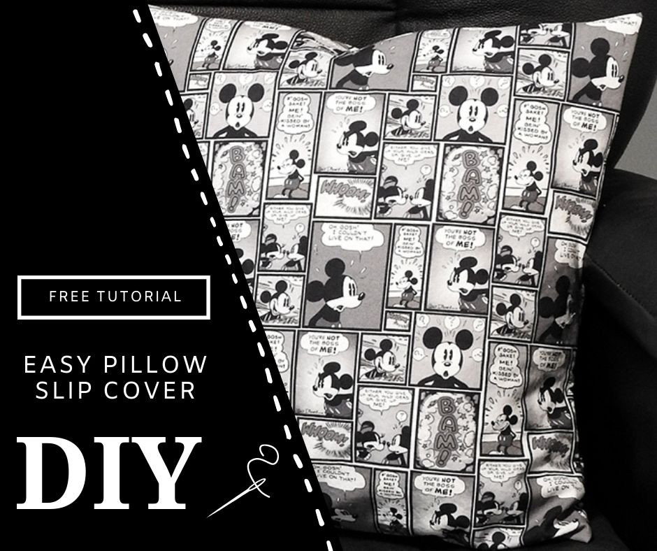 DIY Mickey Mouse Pillow Cover How to Make a Pillow Cover with Disney Fabric