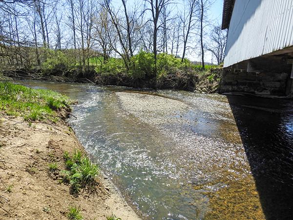 Hannaway Covered Bridge Two Glaciers Park Fairfield County Ohio Clear Creek