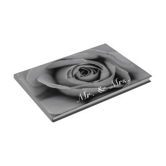 Monochromatic Rose Mr. & Mrs. Guestbook