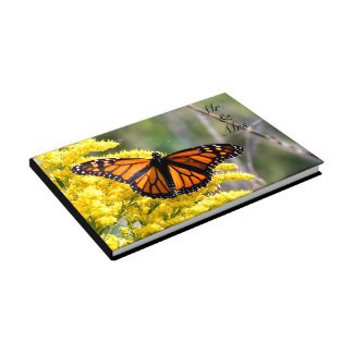 Monarch Butterfly Mr. & Mrs. Wedding Guestbook