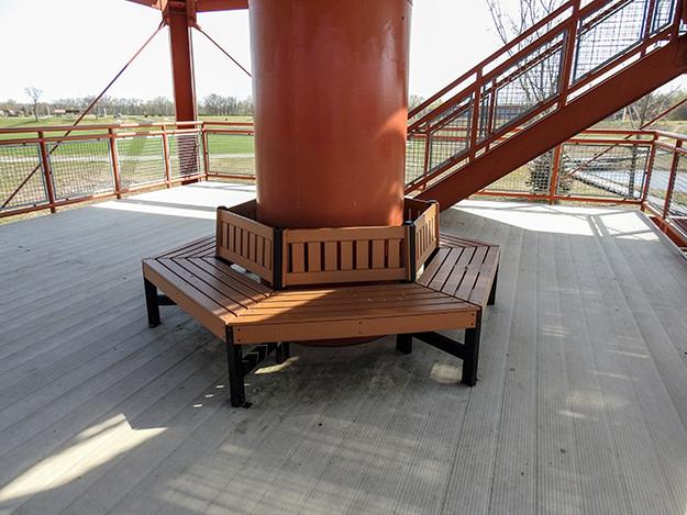 Seating on Water Tower at Scioto Audubon Metro Park