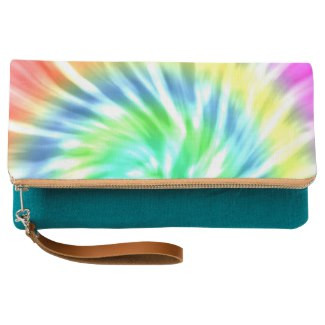 Tie Dye Design Fold-Over Clutch