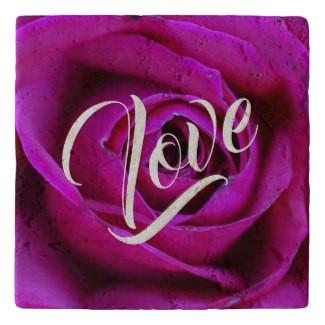 Rose Love Stone Trivet