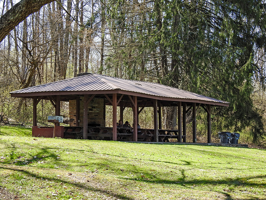 Lower Shelter House at Spring Valley Nature Preserve in Granville Ohio