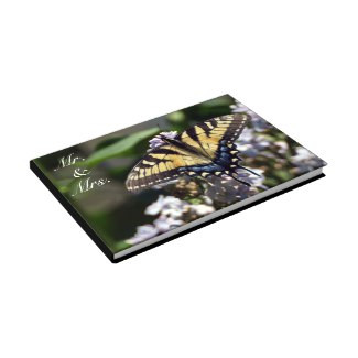 Tiger Swallowtail Butterfly Mr. & Mrs. Guestbook