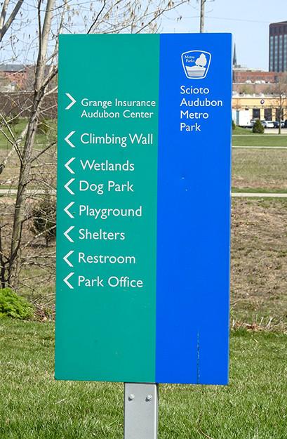 Visitor Sign at Scioto Audubon Metro Park