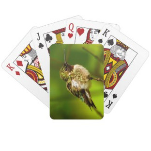 Ruby Throated Hummingbird Playing Cards