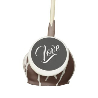 Love Chocolate Cake Pops with Icing & Drizzle