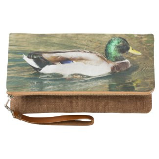 Mallard Duck Fold-Over Clutch