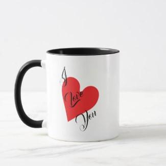 I Love You Heart Coffee Mug