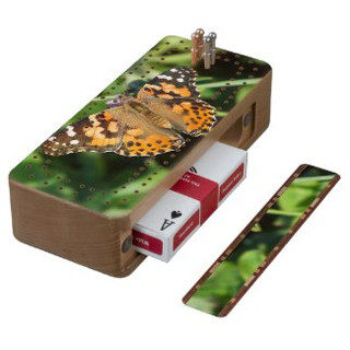 Painted Lady Butterfly Cribbage Board