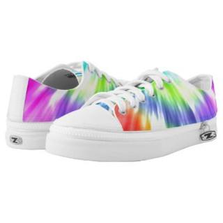 Tie Dye Design Low Top Sneakers