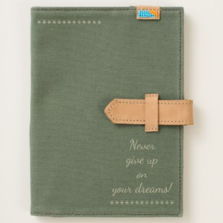 Never Give Up Canvas Journal