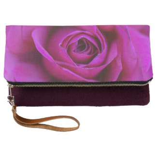 Rose Fold-Over Clutch
