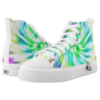Tie Dye Design High Top Tennis Shoes