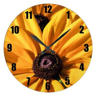 Black Eyed Susan Wall Clock