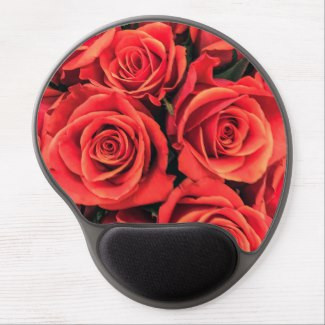 Bouquet of Red Roses Gel Mousepad