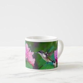 Ruby-Throated Hummingbird Espresso Mug