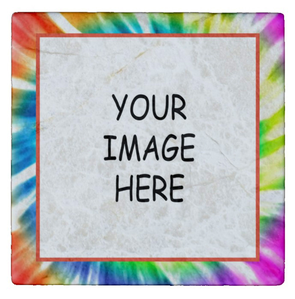 Tie Dye Design Personalized Photo Magnet